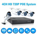 JOOAN 4ch 720p poe cctv system outdoor mini poe ip camera HD recorder 4ch HDMI P2P