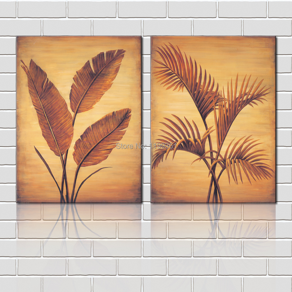 Leaves Painting Canvas Paintings Canvas Prints