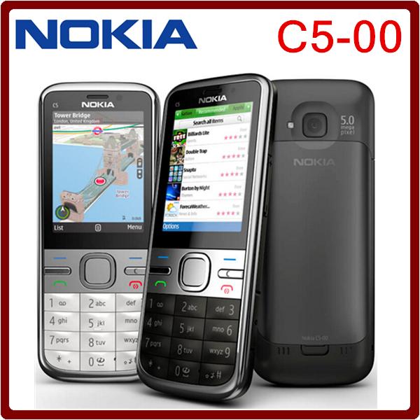 C5 Original Unlocked Nokia C5-00 cell phone 3.15MP 3G Bluetooth with Free shipping(China (Mainland))