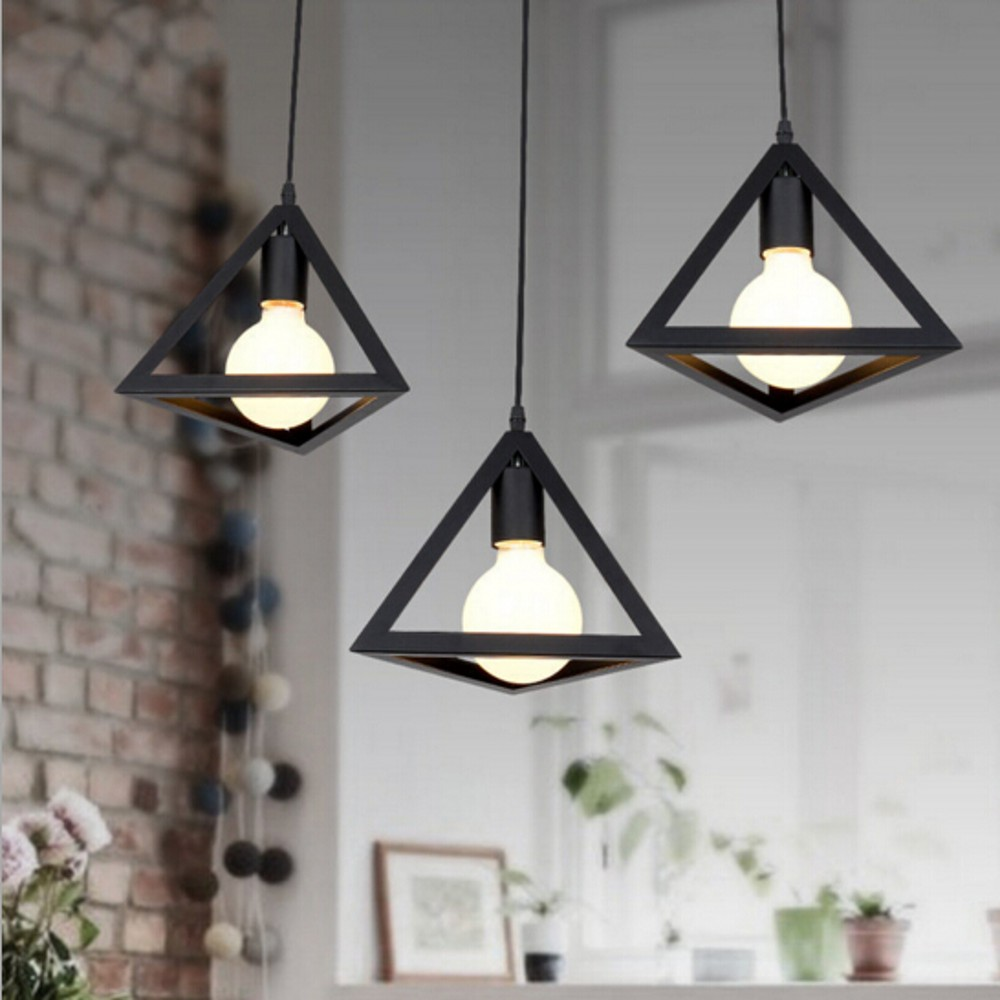 Personality retro edison loft pendant lamp indoor dining for Hanging light fixtures for dining room