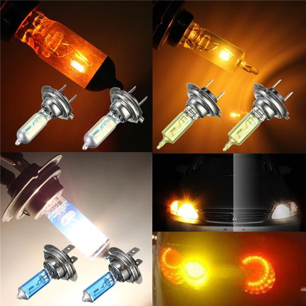 Big Promotion H7 55W Xenon Halogen Bulb Car Auto Headlight Light Lamp Bulb Rainbow Blue/Yellow/White DC12V(China (Mainland))