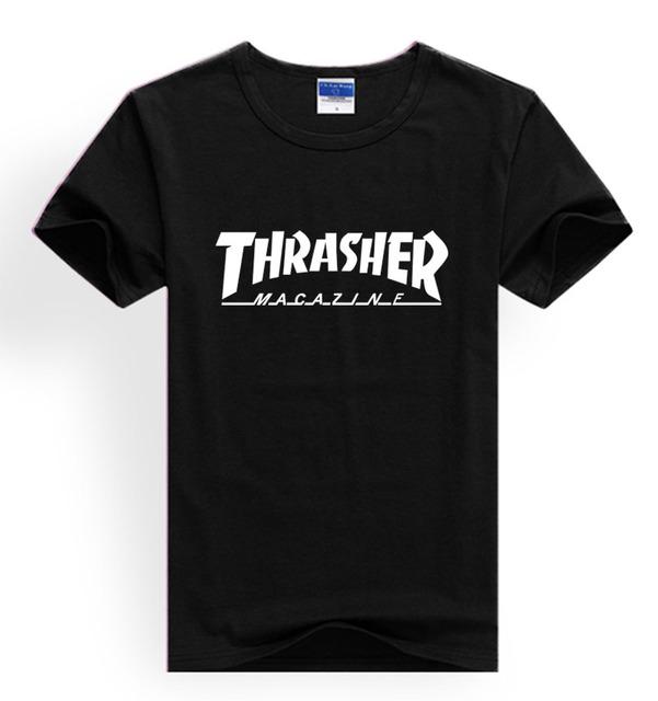 Новое Прибытие!! мода Трэшер футболка Мужчины Хип-Хоп с известный бренд т рубашки мужчин 2016 в 3xl Новый хлопок teeshirt XXS