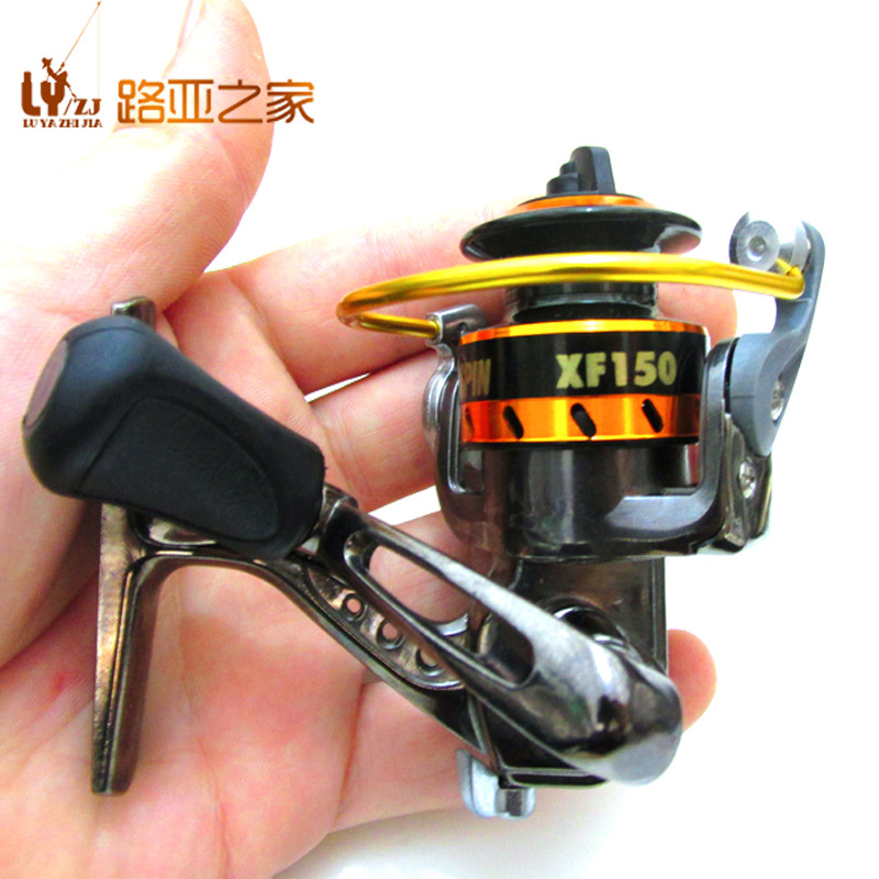 Xf150 small size all metal fishing reel lure ice fishing for Ice fishing clearance
