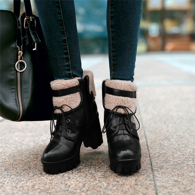 2015 new winter martin soft leather solid color ankle women boots high heel boots comfortable and breathess women boot E3845<br><br>Aliexpress