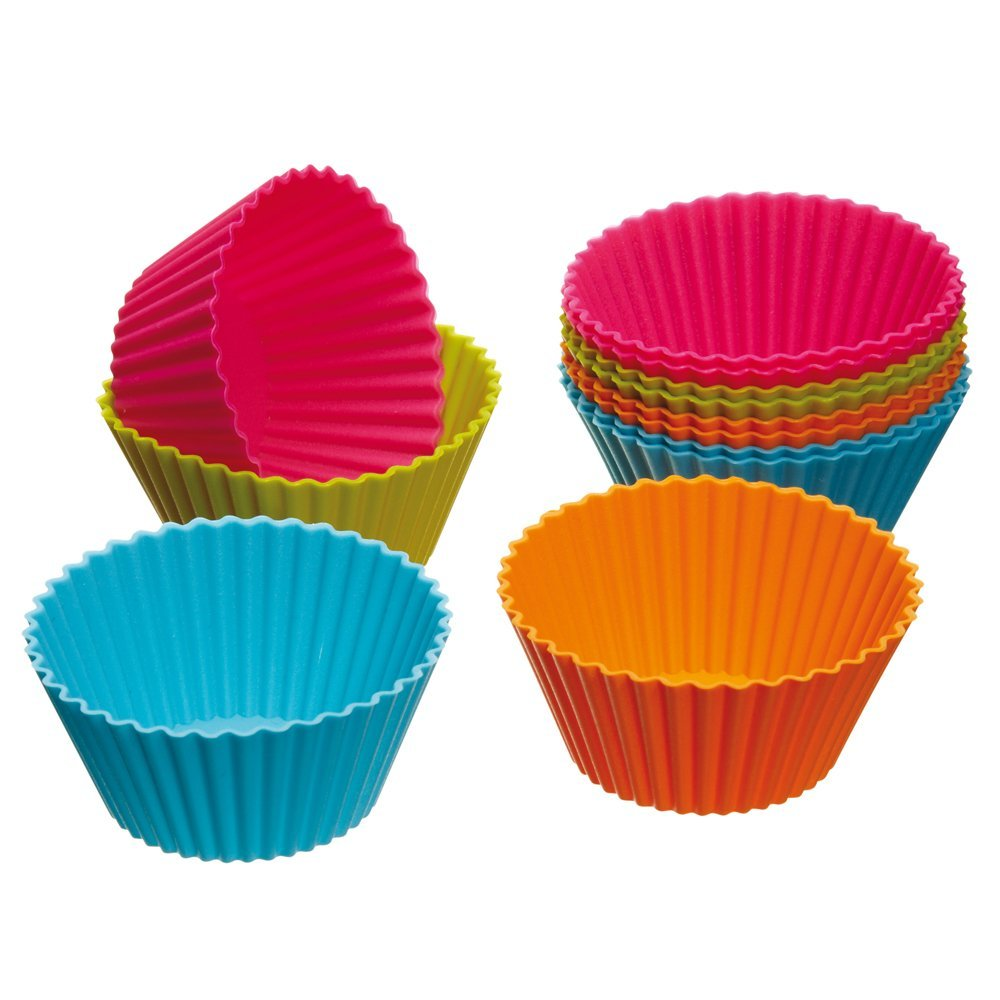 12 PCS/Set Cake Cup Kitchen Craft Colour works Silicone Cupcake Cases forma de silicone Cake Decorating Tools drop shipping(China (Mainland))