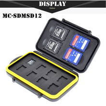 Free Shipping SDMSD12 Memory Card Case Anti-shock Waterproof Tough Micro SD Card Case for 4 SD Cards and 8 Micro SD Card Holder(China (Mainland))