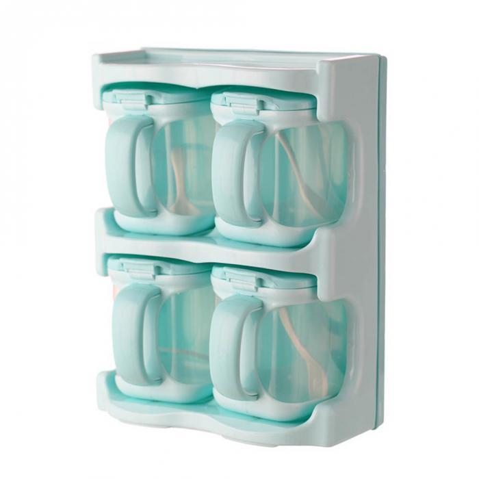 MAI/&BAO Seasoning Box Caja De Condimento Recipientes Contenedor De Almacenamiento De Condimento Azucarero De Cocina cer/ámica para Guardar t/é Hierbas o Especias B/úho Lindo dise/ño