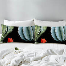 BeddingOutlet Succulent Pillowcase Plants Flower Panting Pillow Case Green Pink Girls Bedding Cactus Pillow Cover 50x75cm(China)