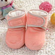 Buy Fashion Soft Bottom Baby Boots Lovely Winter Warm Baby Shoes Cotton Padded Infant Toddler Baby Boys Girls Boots Free for $4.37 in AliExpress store