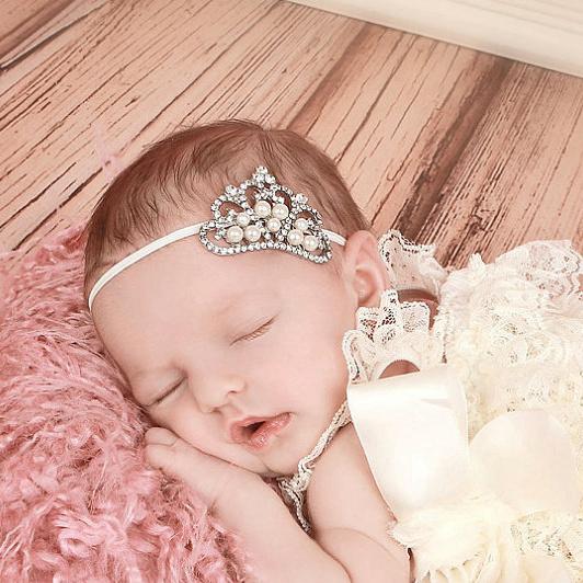 Crown headband Baby Tiara Headband girls princess baby hairband elastic band kids hair acessorios para cabelo #8W0054 10pcs/lot(China (Mainland))