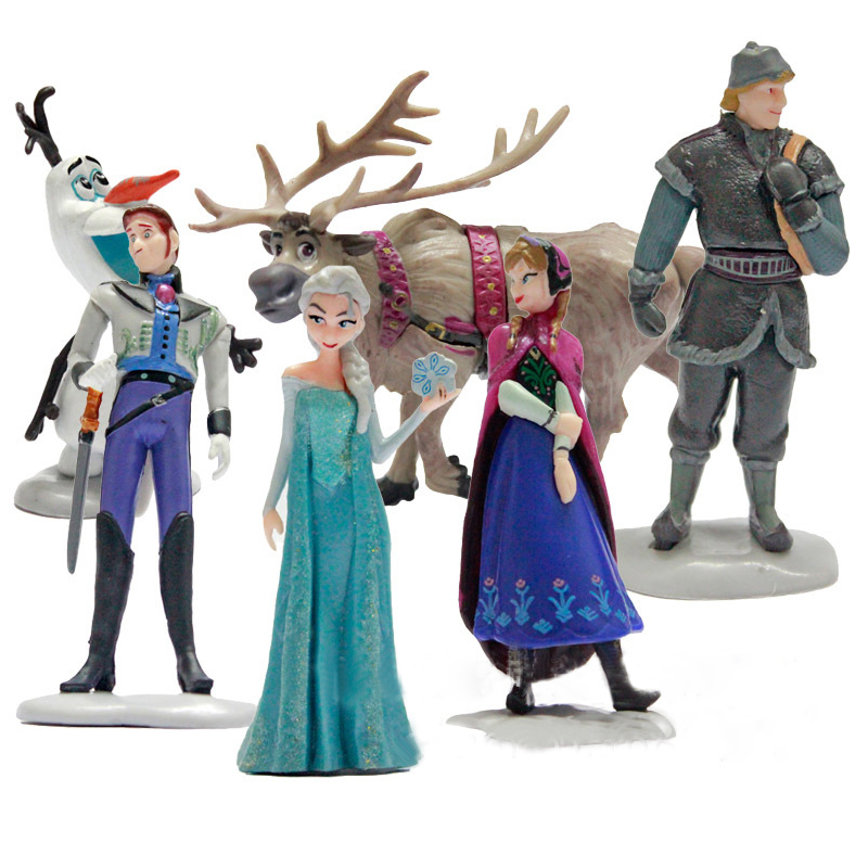 Hot 6 Pcs Anna Elsa Action Figure Toy Snow Queen Princess&Prince Collection Pvc Toys Cartoon Anime Movies Children Gifts DA005(China (Mainland))