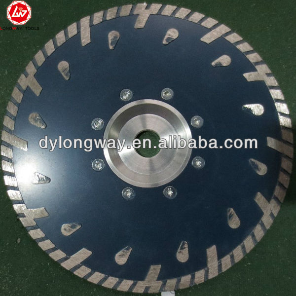 "230x7x22.23mm-5/8""-11 flange cold press special turbo diamond saw blade for bricks, granite,marble and concrete.cutting tools(China (Mainland))"