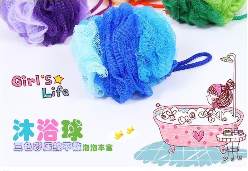 vanzlife color cartoon lace large bath flower bath towel hit the color ball bath bubble bath brush