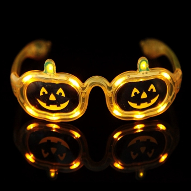 Hot Sale Flashing Party LED Light Glasses for christmas Birthday Halloween Decoration supplies Glow Pumpkin Glasses Masquerade(China (Mainland))