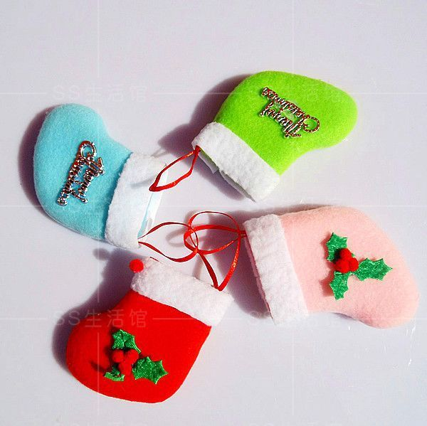 Christmas decoration christmas tree small socks