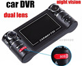 2 7 LCD HD 1080P Dual 120 Wide Angle Camera Rotated Lens Car DVR Vehicle Digital
