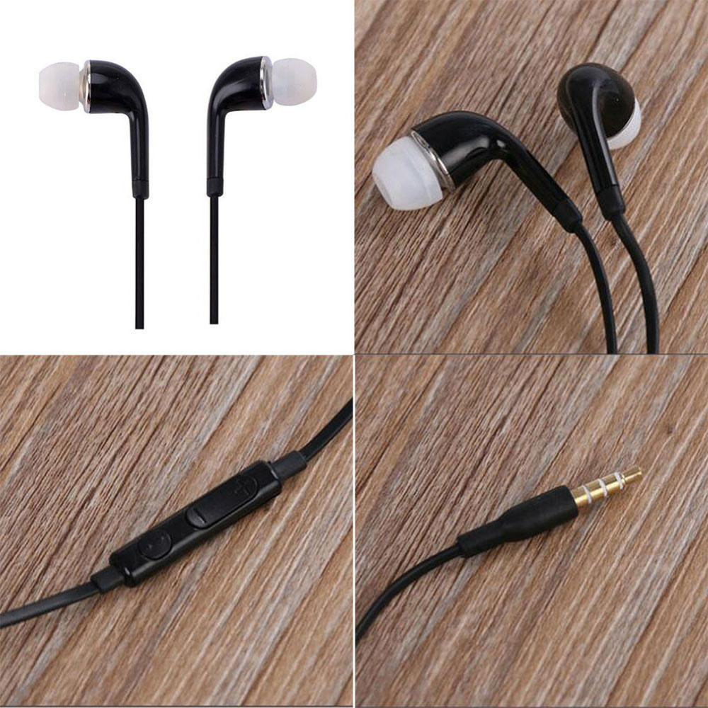High Quality Black Handsfree Earphone In Ear Earphones Headphones Headset For SAMSUNG GALAXY S4 With Remote With MIC