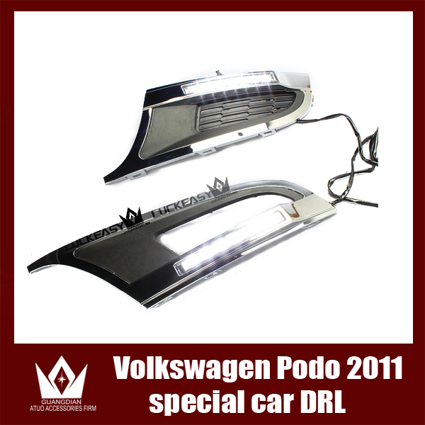 Night lord For VW Volkswagen Golf Polo 2011-2013 8 LED DRL Daytime running light  cover  Free shipping<br><br>Aliexpress