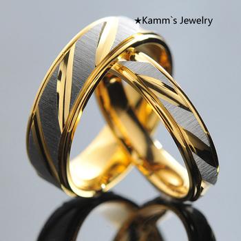 1 шт.! Из нержавеющей стали пары кольца для женщин людей золото обручальные юбилейные ...