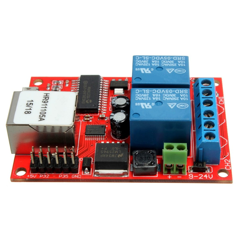 New Arrival Electronic Kit Circuit Board Lan Ethernet 2 Way Relay From Quot Http En650wikiorg Indexphp 415watchdogcircuit Delay Switch Tcp Udp Controller Module Web Server Us617