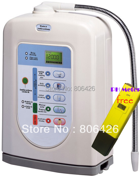 Free Shipping Alkaline water ionizer(Japan Tech,China manufacturer) with Built-in UF filter and external filter+pH meter gifted <br><br>Aliexpress