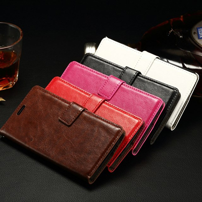 10pcs/lot Crazy Horse Wallet Stand Design PU Leather Case Back Cover For LG G Flex 2 With Photo Frame in Stock
