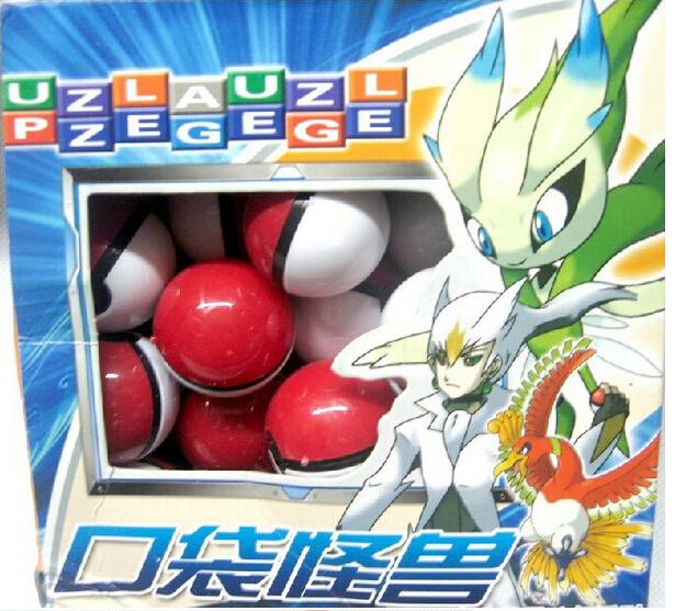 Гаджет  30pcs/lot Pokemon Monsters Pokeball small mega model toy for gift wholesale, free shipping None Игрушки и Хобби