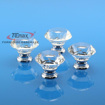 10pcs 40mm Glass Crystal Door Knobs And Handles Kitchen Cabinet Dresser Drawer Pulls Furniture Bedroom