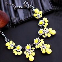 2015 New High quality  fashion gift gold necklace chain Shourouk Vintage Rhinestone Bib necklaces women statement jewelry(China (Mainland))