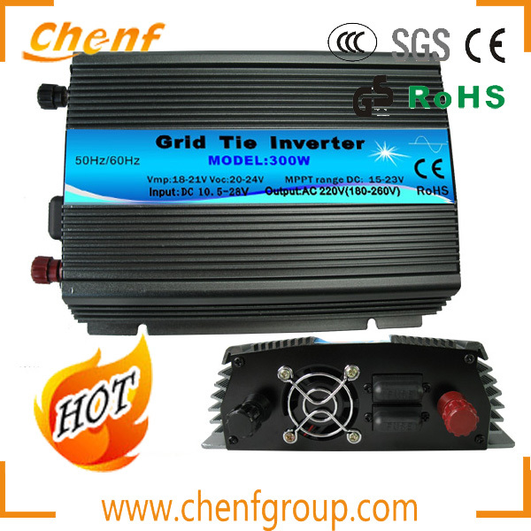 ( 1 Piece Sale) 110V/220V 300W Wind and Solar Grid Tie Inverter / Microinverter with Pure Sine Wave DC To AC Inverter(China (Mainland))