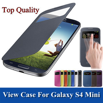 Original style leather case back battery housing covers Smart window flip samsung galaxy S4 mini S IV S4Mini i9190 view - E-Max Technology Co. Ltd. store