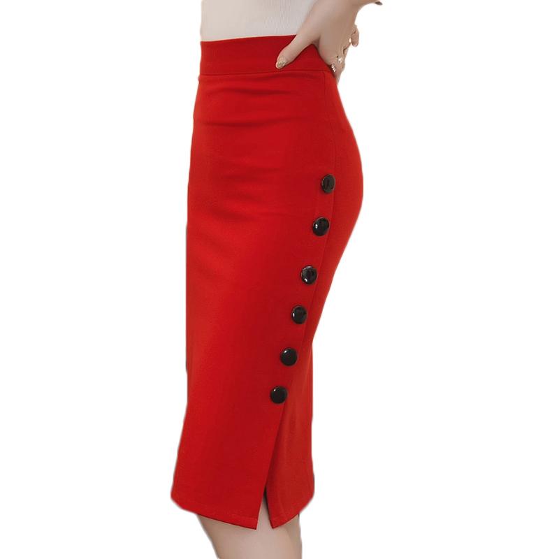 plus size maxi skirt faldas high waist