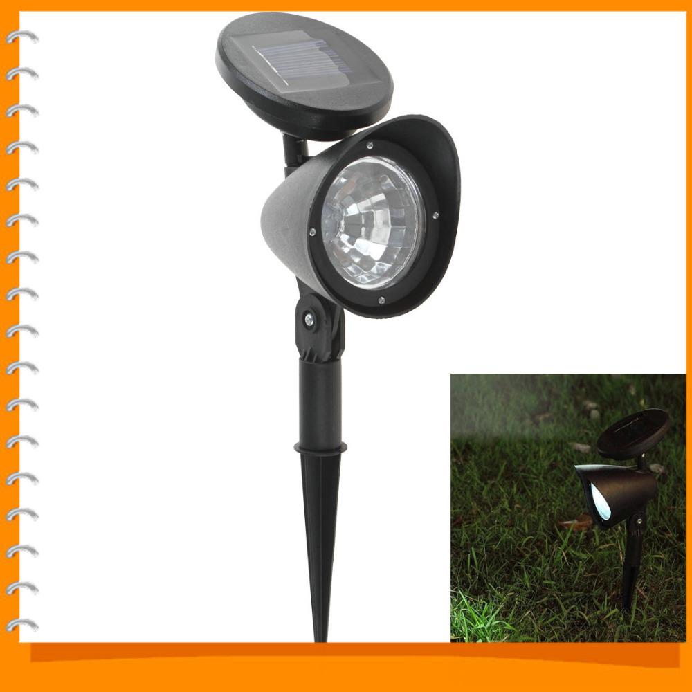 Solar led garden light lamp outdoor spotlight solar lawn for Outdoor lighting spotlights
