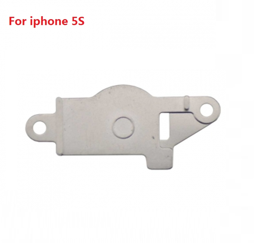 Premium home key cable bezel gasket for Apple iPhone 5G 5S 5C Back button cable spacing iron Replacement parts + retail package