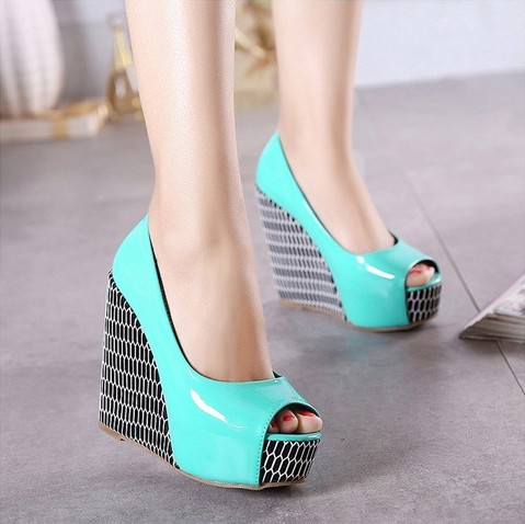 Spring Autumn Wedge Sandals Fish Mouth Shoes Nightclub platform wedges shoe woman Pumps(China (Mainland))