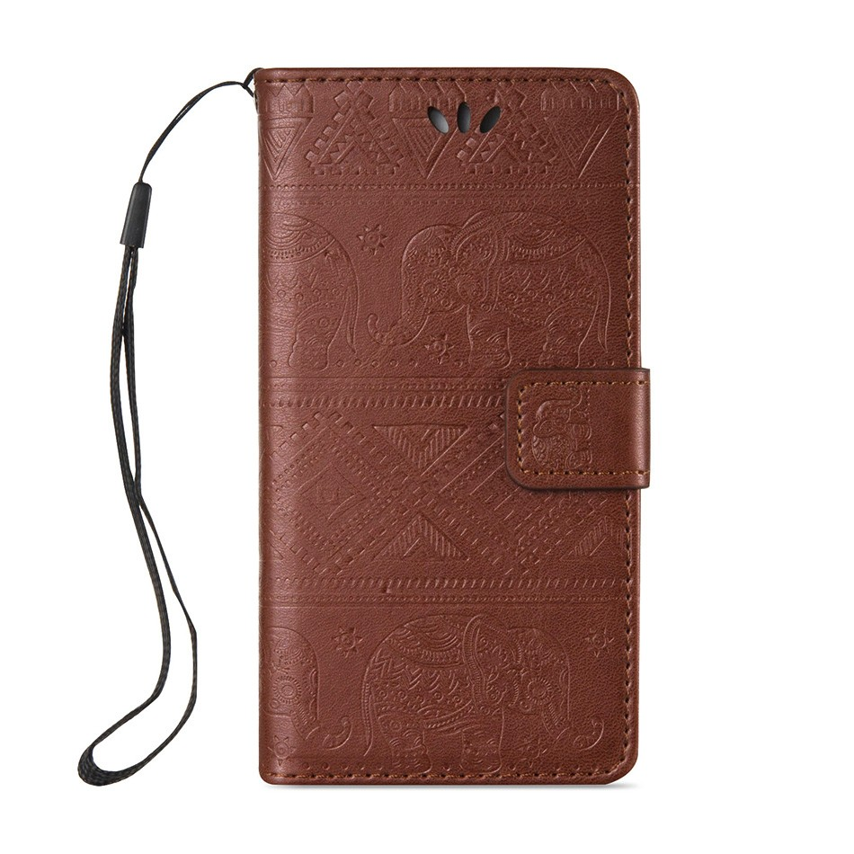 Elephants Flip PU Leather Mobile Phone Cases For iPhone 5SE iphone55s iPhone 5 5S 5G 55S 4.0 inch Case Cover Housing Hood Bags