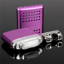 Hot Sale New Fashion Small Ultralight Portable Hand Warmer Aluminum Handy HandWarmers Multi Colors(China (Mainland))