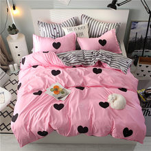 2019 Home Bedding Duvet Cover Set Super King Bedclothes Grey Flat Sheet Adults Bedding Set 5 Size Bed Linens AB Side Duvet Cover(China)