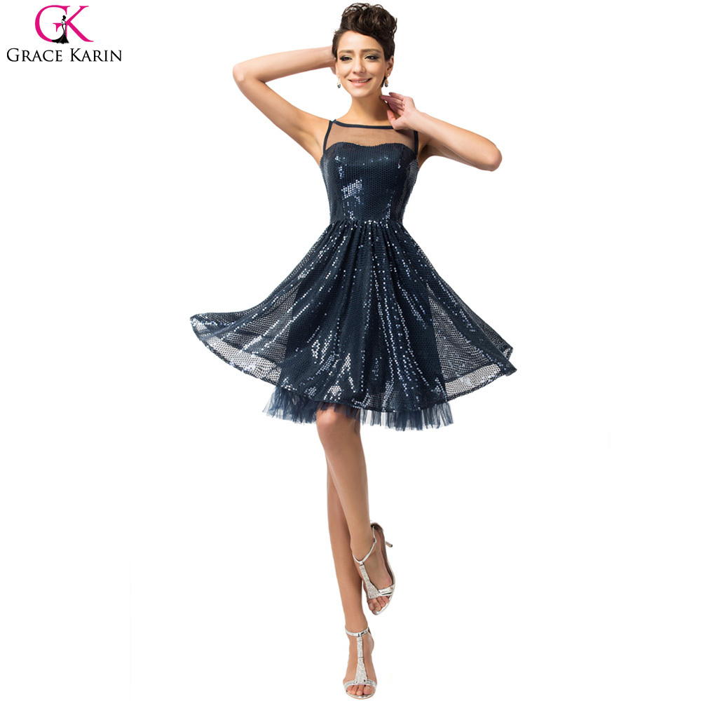 Navy blue cocktailkleider vestidos coctel robe coktail for Wedding cocktail party dresses