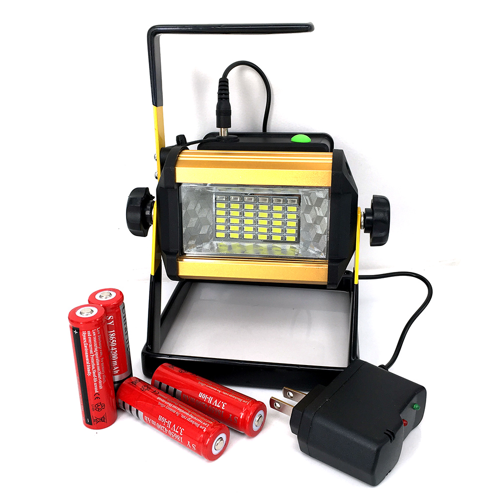 4*18650 Battery Brightness Waterproof IPX67 30W 36LED Floodlight Portable SpotLights Rechargeable Outdoor Work Emergency light(China (Mainland))
