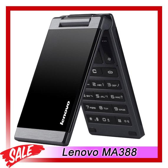 Dual SIM Original Lenovo MA388 3.5inch Business Elders Flip Mobile Phone FM Flashlight Camera Bluetooth GSM Network Black Color(China (Mainland))