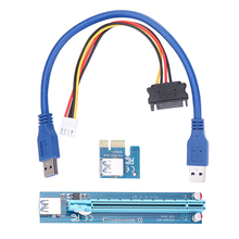 Buy USB 3.0 PCI-E Express 1X 16X Extender Riser Adapter Card 30CM USB Power Cable SATA 15pin Male 4pin cable for $6.28 in AliExpress store