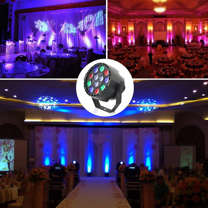 1 PC Professional LED Stage Lights 15W DMX-512 RGB LED Stage PAR12 Light Lighting Strobe Party Disco DJ KTV Show VEP54 T50(China (Mainland))