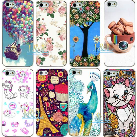 Fashion luxury sweet special design emboss cell phone Cover For iPhone 5 5s Hard Case New Arrival UV print high quality item(China (Mainland))