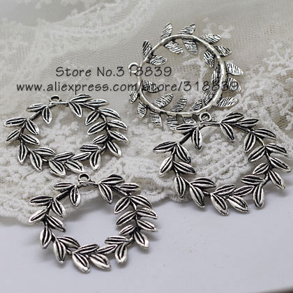 (10 pieces/lot) 40mm Antique Silver Metal Alloy Circle Branch Charms Jewelry Making Charms 7987<br><br>Aliexpress