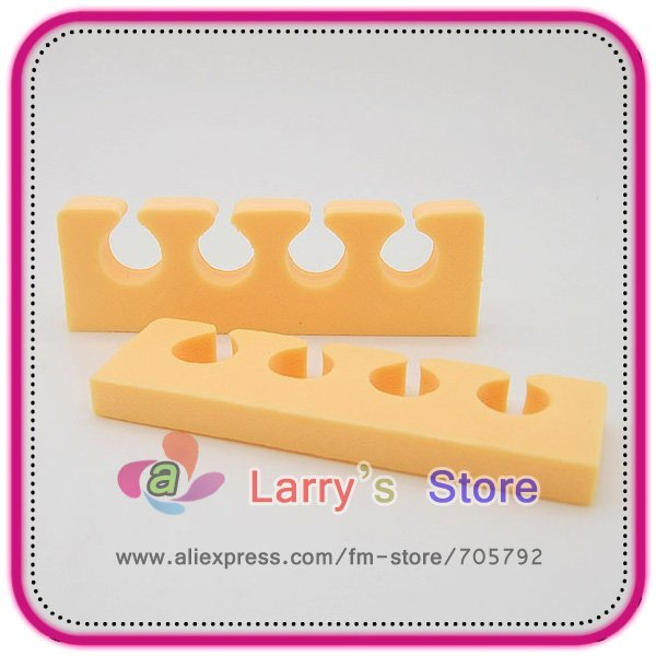 Free Shipping 50 Pcs Lot Nail Art Care File Eva Heart Shape Soft Finger Toe Separator For Beauty Seperator Manicure Pedicure DIY