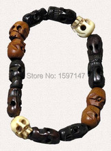Hot Movie Supernatural Dean Bracelet Winchester Jensen Ackles Skull Ball Bracelet(China (Mainland))
