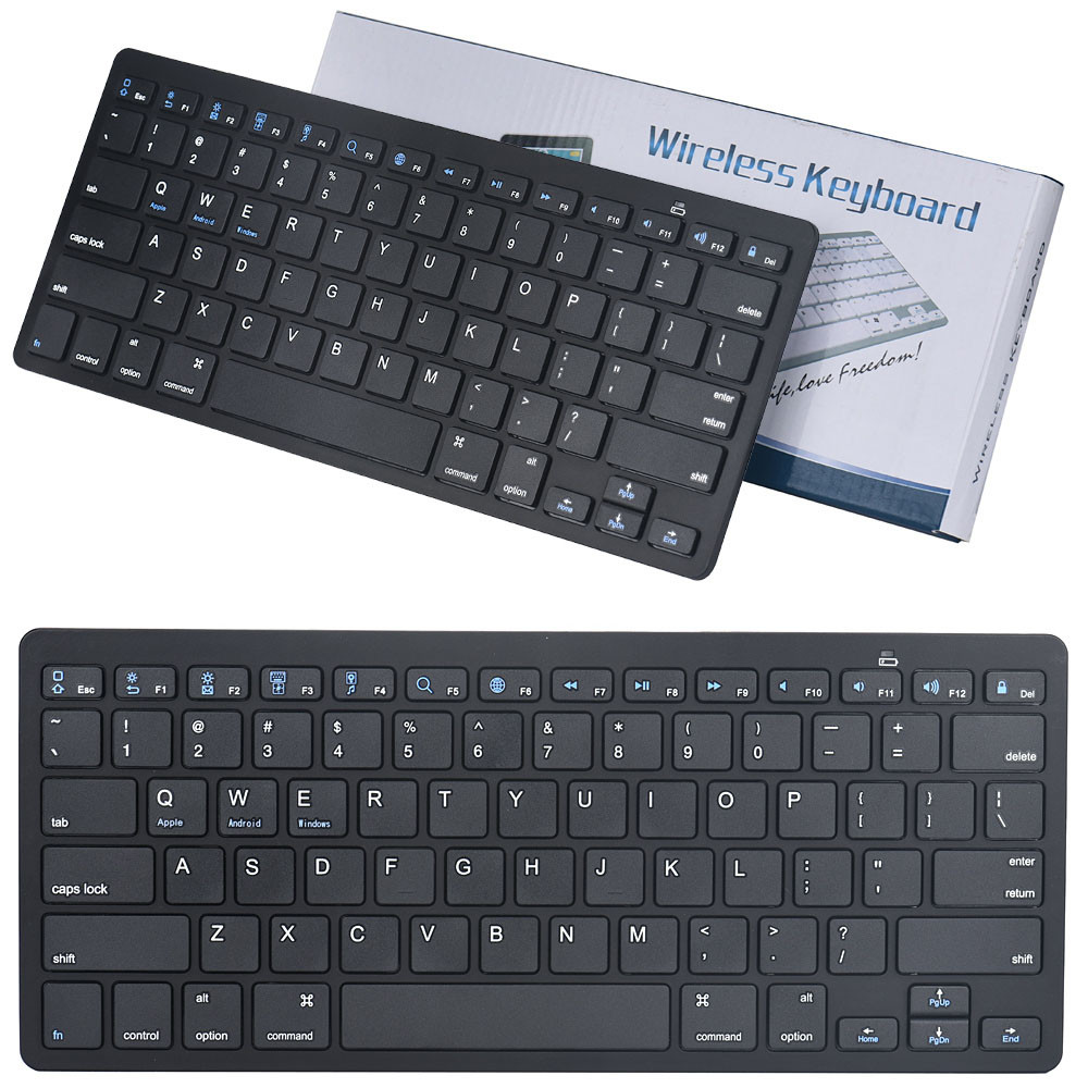 New Mini Wireless Keyboard Slim Mini Bluetooth Wireless Keyboard For ipad pro 9.7 /12.9 Gaming Mouse Wired for Tablet Laptop PC(China (Mainland))