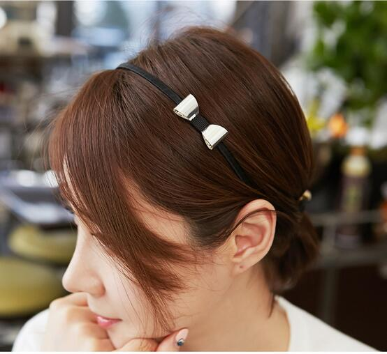 ta172 Simple design plated silver plated gold metal modern Headband hair bands bows for women girls hair accessories Headwear(China (Mainland))