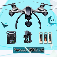 Original Yuneec Typhoon Q500 4K Camera Handheld Gimbal ST10 10ch 5.8G FPV Quadcopter Drone with Camera Three Battery and Case